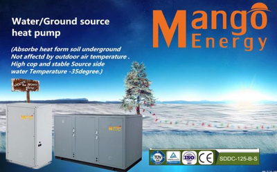 10.5-99.4kw Multifunction Ground Source Geothermal Water to Water Source Heat Pump