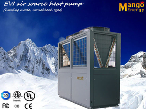 High Efficiency Commercial Evi Air to Water Heat Pump 40.6kw Heating Capacity