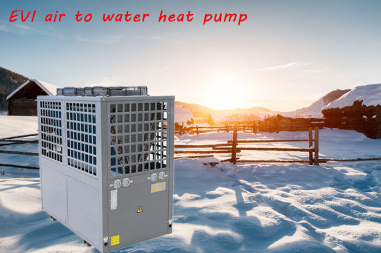 Perfect Anti-Freezing Protection Evi Air to Water Heat Pump Work at -25 Degree Ambinent Temp