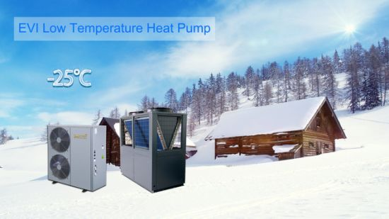 The European Floor Heating or Water Heating Special Unit Evi Air to Water Heat Pump