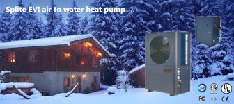 Splite Air to Water Heat Pump Work at -25 Degree with Ce, RoHS, CCC (flooring heating & hot water)