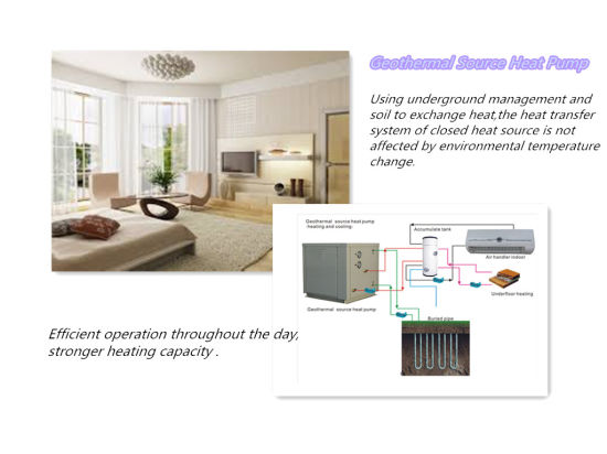 Residence (10.4kw) Small Size Geothermal Ground Source /Water to Water Heat Pump for Villa, Also Provide Domestic Hot Water