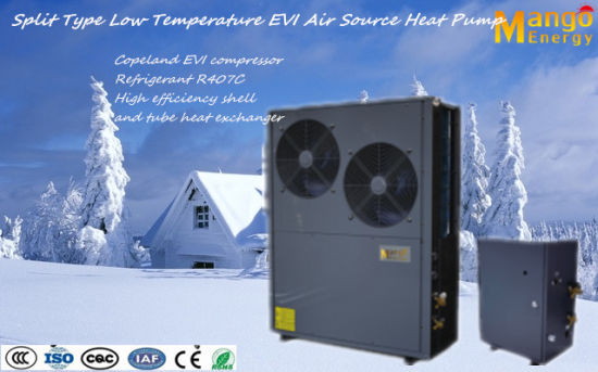 20.6kw 380V R407c Splite Air Source Evi Heat Pump Work at Cold Area