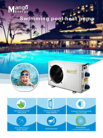 R410A 4.8kw SPA House Swimming Pool Heat Pump