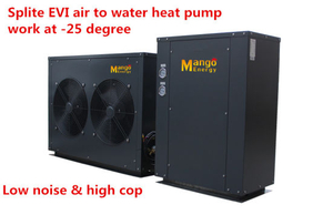 R407c 50Hz Evi Splite Air Source Heat Pump for Heating and Hot Water