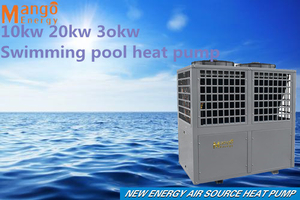 Europe 10kw 15kw20kw 30kw ABS Plastic Swimming Pool Heat Pump