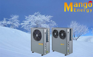 All in One Air Source Heat Pump (heating&cooling and 90 degC hot water) with High Cop